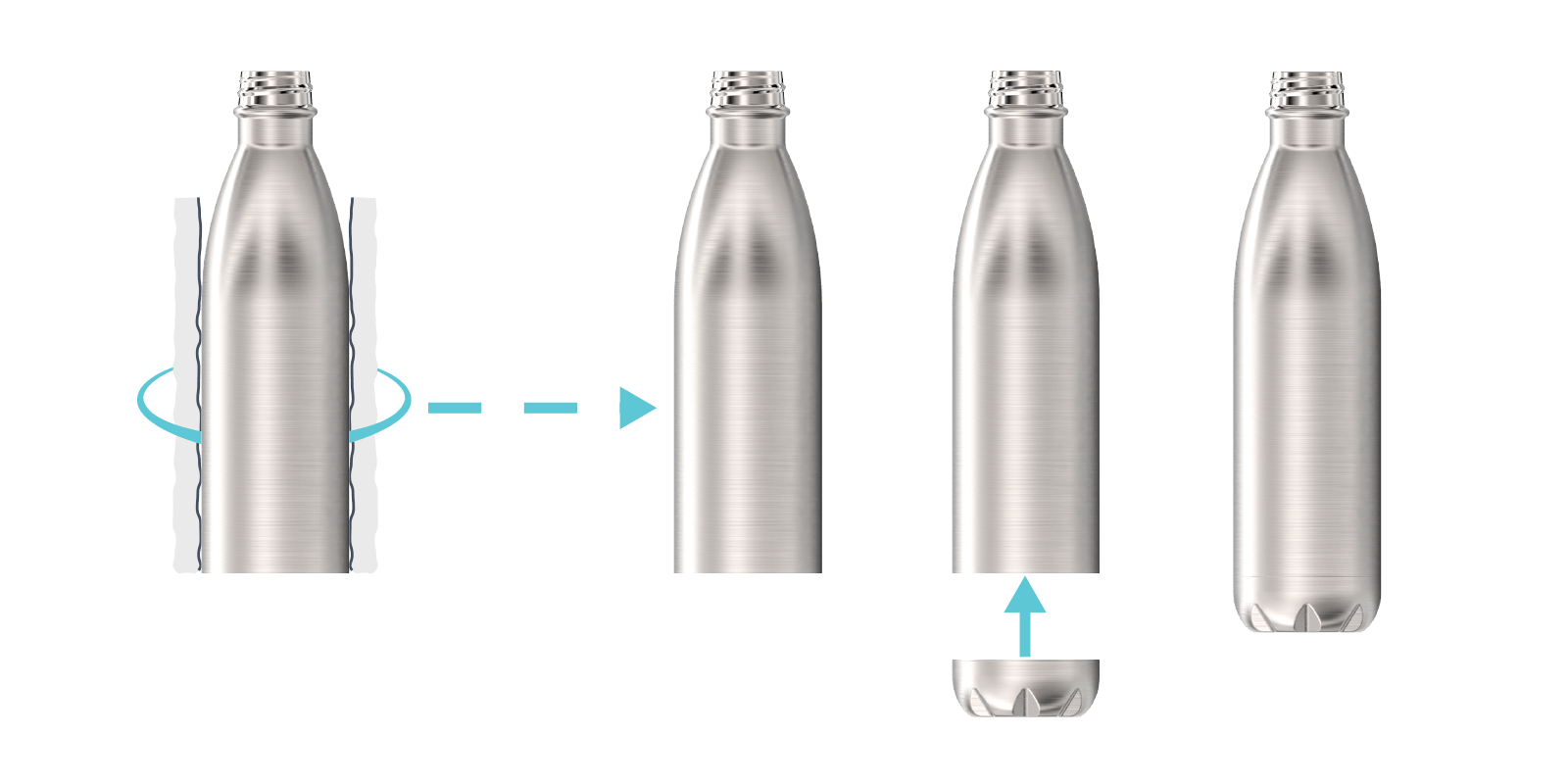 Comment nous fabriquons nos Gourdes en Métal - Step6